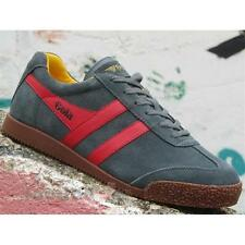 Shoes Gola Harrier CMA192PR207 Man Sneakers Suede Grey Red Sun