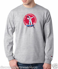 New York Giants 1950s Throwback Logo Champion Long Sleeve T Shirt Mens New Tee