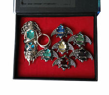 Anime Hitman Reborn Cosplay Crystal Rings Vongola Family 7 keepers' Rings Kit