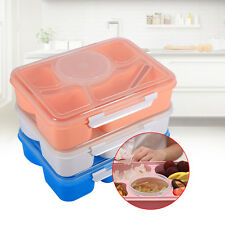 Portable Microwave Bento Lunch Box +Spoon Plastic Picnic Food Storage Container