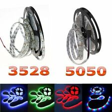 5M 3528 5050 300LEDs SMD LED Flexible Strip Lamp Ribbon Tape Roll Xmas Car Decor