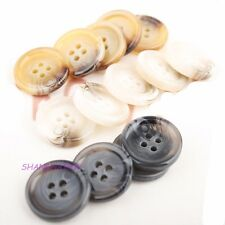 20 X Resin Buttons 4 Hole Sewing Round Men Clothing Retro Notion 23/25/30mm New
