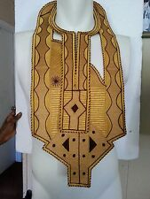 Embroidery for African Ankara Buba Dashiki One Size Fits Most **Neck** Hand Made