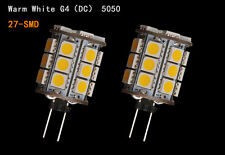 4/10/20 PCS G4 5050 5/27 SMD LED Pure/Warm White Car Cabinet RV Boat Light Bulbs