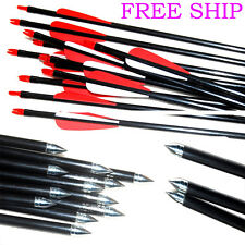 New Fibreglass Archery Arrows steel tip hunting compound bow & Recurve Bow