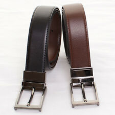 Mens Pierre Roche Reversible Real Leather Belt Black/Brown Formal Belt