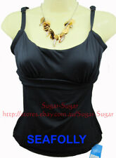 SEAFOLLY DD/E Cup Singlet Underwire Top ~Black or Brown Size: 10 & 14