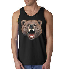 Bear Bite Big In You Face Design Animal Lovers Tank Top Sleeveless Shirt