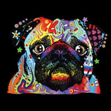 Pug Puppy Dog Bright Neon Colors Animal Lovers T-Shirt Tee