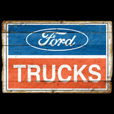 Ford Trucks Logo Vintage Sign Red White & Blue Design Hot Rod Car T-Shirt Tee