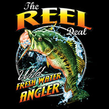The Reel Deal Freshwater Angler Bass Fishing Funny T-Shirt Tee