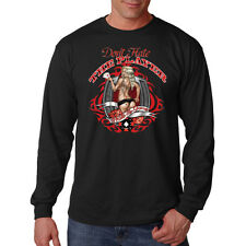Don't Hate The Player Hate The Game Gambling Pin Up Girl Long Sleeve T-Shirt Tee