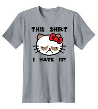 Grumpy Cat This Shirt I Hate It Funny T-Shirt Tee