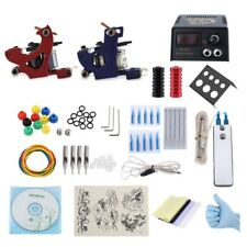 Complete Tattoo Kit 2 Machine Gun Shader Liner Power Supply System