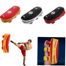 PU Leather Curved Arm Pad Thai Kick Boxing Strike MMA Focus Muay Punch Shield