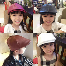 Fashion Kids Baby Girl Boy Beret Hat Hot Solid Peaked Cap Child Caps Hats New