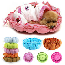 NEW Pink Pet Puppy Dog Cat Sleeping Bed Cushion Mat Kennel Nest Warm House Bed