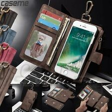 For iPhone 6 / 6S Plus Leather Case Zipper Wallet Card Removable Magnetic Cover