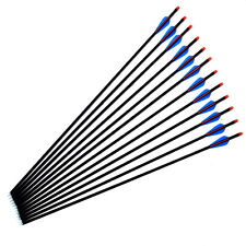 "28''29""30""32"" FIBREGLASS ARROWS FOR COMPOUND OR RECURVE BOW TARGET FIELD POINT"
