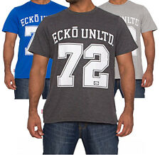 Mens Ecko Unlimited 72 Crew Neck T-Shirt Tee Casual Top Crafter In 3 Colours