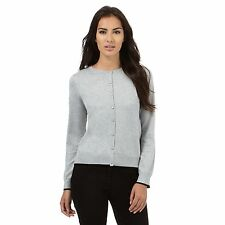 The Collection Womens Grey Tipped Cardigan From Debenhams