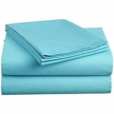 BEDDING SHEETS COLLECTION  1000TC 100%EGYPTIAN  COTTON AQUA SOLID ALL SIZE