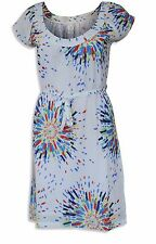 NEW Ex White Stuff Colourful Sunburst Print White Cotton Tunic Tea Dress UK 8-16