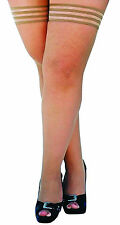 Stay in Place Grip Nude Fishnet Thigh-Highs Tights Plus Size Stockings Hosiery