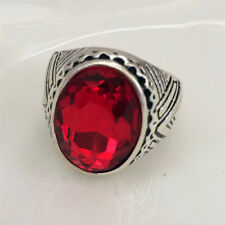 Vintage 316L Stainless Steel Vogue Design Mini Stone Ring New Size 8 9 10 11  ##