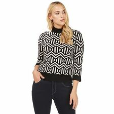 Principles By Ben De Lisi Womens Black Bow Print Jumper From Debenhams