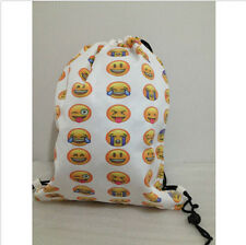 Child Lady Emoji Backpack Girl Book School Bag Smiley Bookbag Day Pack Knapsack