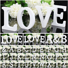 Wooden Letters Alphabet Bridal Wedding Birthday Home Wood Word Xmas Decoration