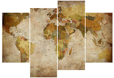world map picture canvas print painting abstract modern art indoor wall decor