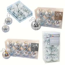 Christmas Tree Decoration Mirror Ball Baubles - 35mm, 40mm, 50mm or 60mm