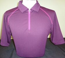 MENS UNDER ARMOUR S/S HEATGEAR LOOSE FIT POLO GOLF SHIRT, LARGE, PURPLE, $75