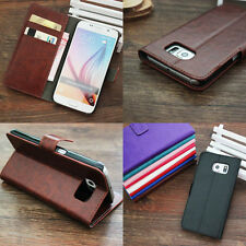 Leather Flip Wallet Stand Card Slot Cover For Samsung Galaxy Series Phone case