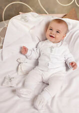 Baby Boys Christening Clothes White Infant Newborn Cotton Christening Outfit Set
