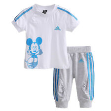 Girls Boys Mickey Mouse T-shirt Top + Shorts Set Sportswear Kids Clothes Outfit
