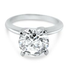 Moissanite solitaire engagement ring 4 prong 2 and 3 carat round Forever ONE