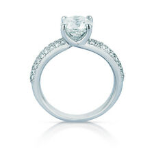 2.58 CT Enhanced Diamond Engagement Ring Round G/VS1 14k W Gold Sizable #56286