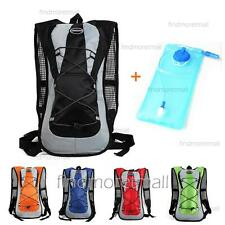 Sporting Backpack + 2L Water Bladder Bag Hydration Packs Camping Cycling Hiking