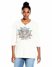 Lucky Brand Womens Plus 7Q80041 -SZ Bliss Graphic Tee- Choose SZ/Color.