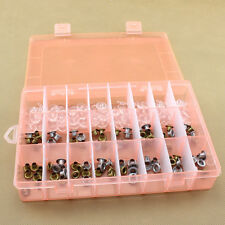 24 Compartments Plastic Adjustable Bead Rings Jewelry Nail Storage Box Case