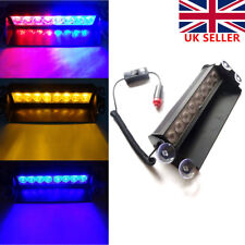 8 LED Car Wind Dash Strobe Emergency Lights Flashing Warning Visor Lamps 12V UK