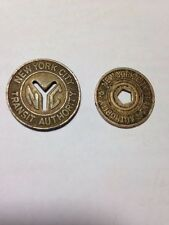 Lot of 2- NEW YORK CITY Transit Authority Vintage Tokens EXCELLENT CONDITION