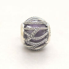 Authentic Genuine S925 Silver Intertwining Radiance Purple & Clear CZ Charm