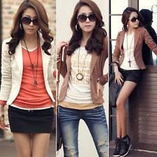 Fashion Womens Casual Slim Suit Blazer Jacket Coat Outwear One Button Tops OL