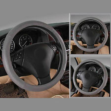 Car Styling Leather Car Cover Steering Wheel Cover Soft Handle Racing Wheel 38CM