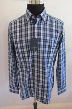 "NWT STONE ROSE LARGE & XL TURQUOISE PLAID COTTON MEN""S SHIRT MSRP $149.00"