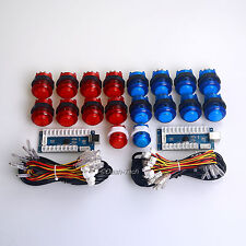 New Arcade DIY Kits Parts USB Encoder + 18 X LED Illuminated Push Buttons MAME